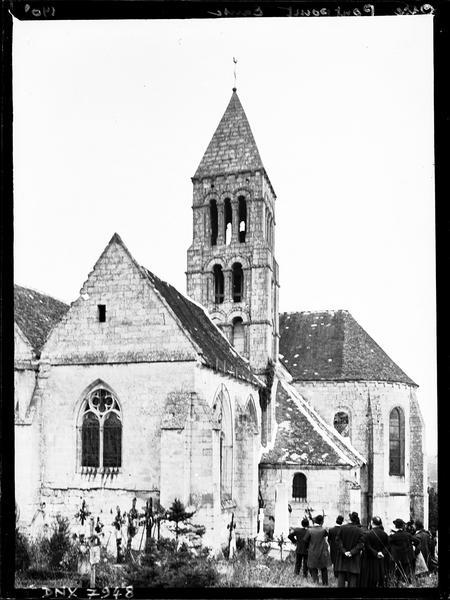 Abside, clocher et partie de la façade sud