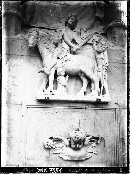 Groupe sculpté : Charité de saint Martin