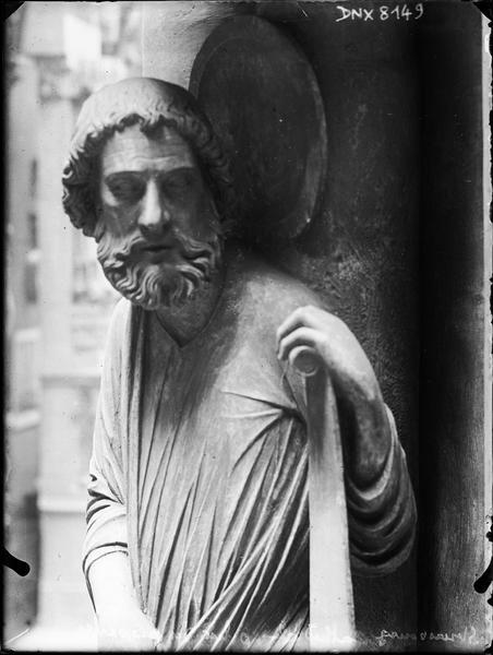 Intérieur, pilier du Jugement dernier ou pilier des Anges : saint Marc, vue partielle