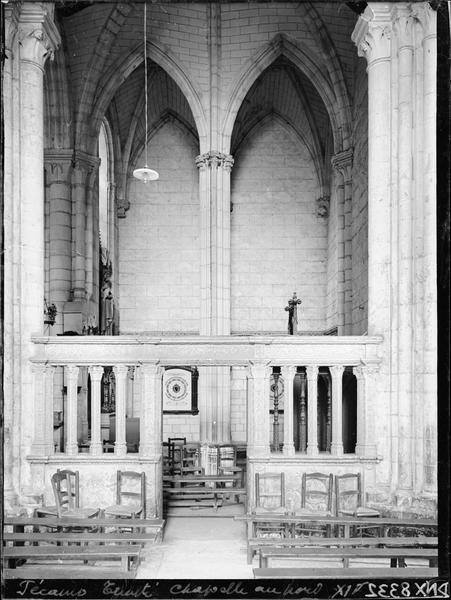 Eglise abbatiale, intérieur : clôture de chapelle