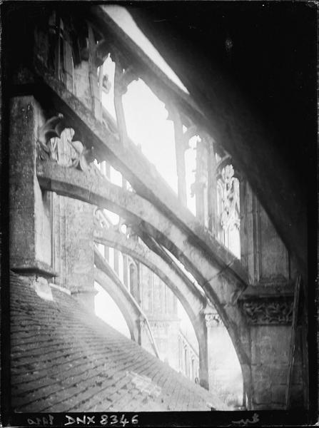 Arcs-boutants de l'abside : détails