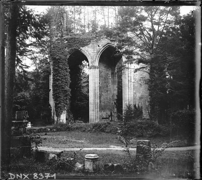 Ruines de l'église abbatiale, intérieur : partie du choeur