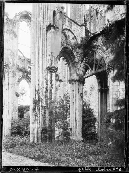 Ruines de l'église : bras sud du transept
