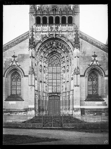 Chapelle, façade ouest : portail
