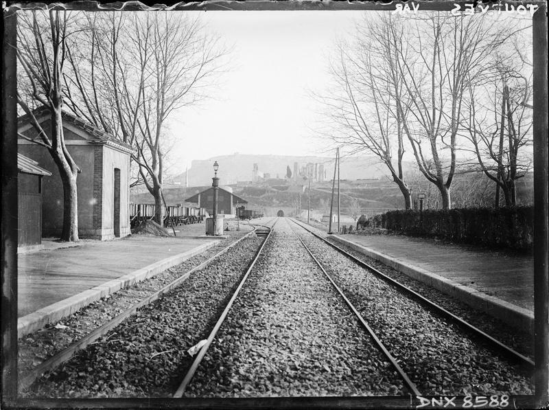 Vue perspective de la voie ferrée