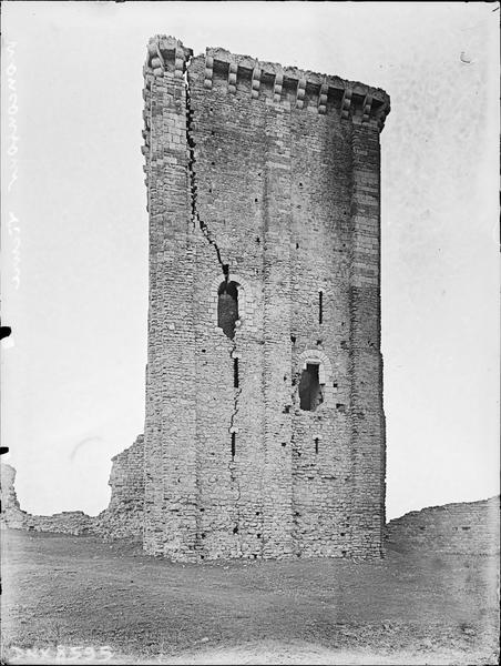 Donjon, façade nord-ouest