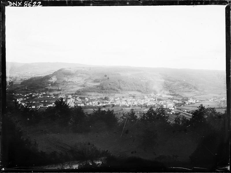 Vue panoramique de la ville prise de l'hôtel de la Feuillée Dorothée