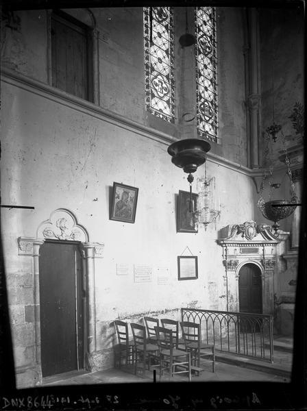 Intérieur : chapelle latérale au nord du choeur