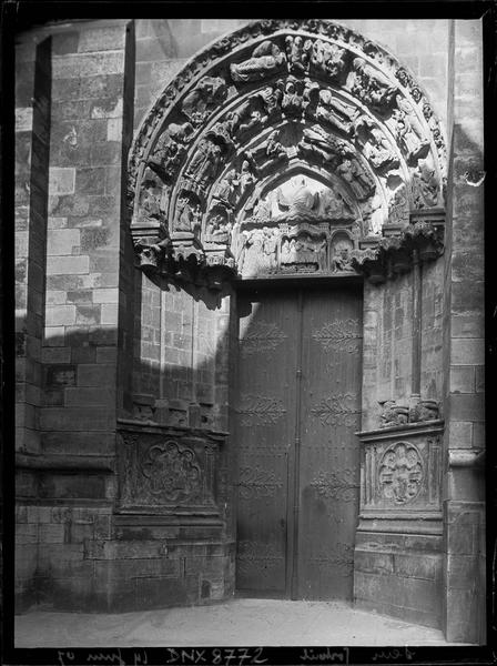 Façade ouest : portail nord, dit portail Saint-Jean-Baptiste