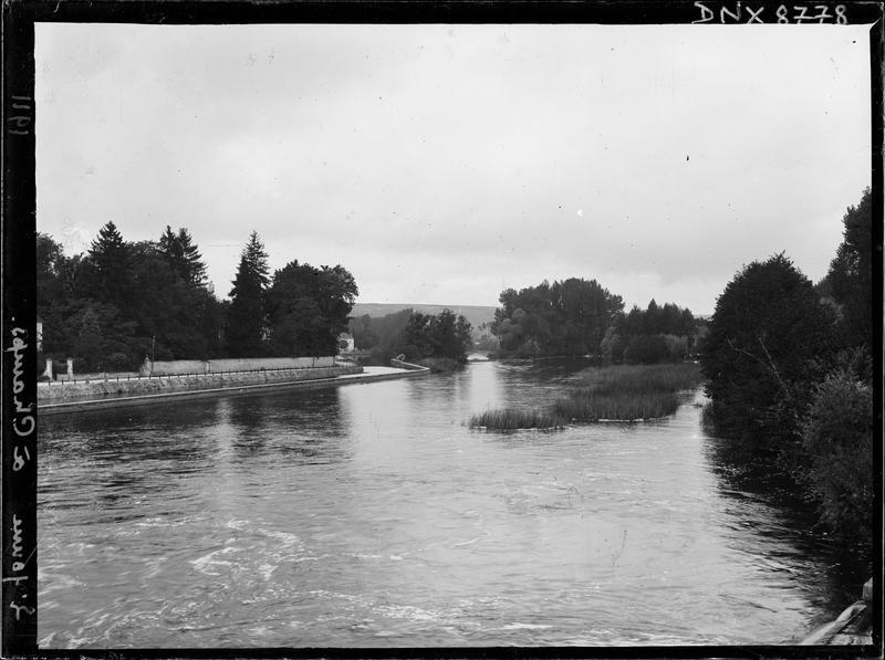 Le cours de l'Yonne, entre ses rives herbeuses et boisées
