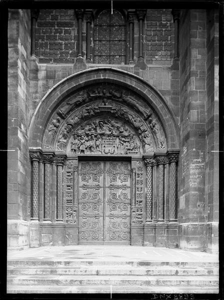 Façade ouest : portail nord