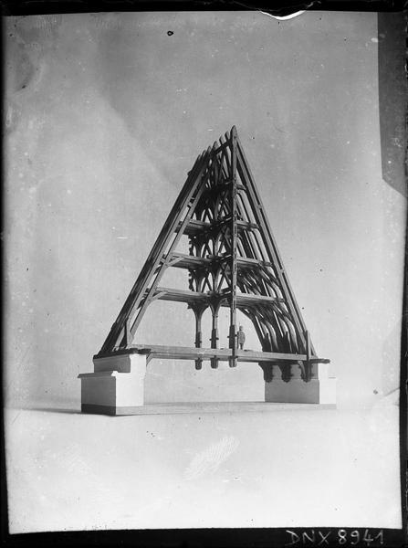 Maquette de la charpente de la chapelle