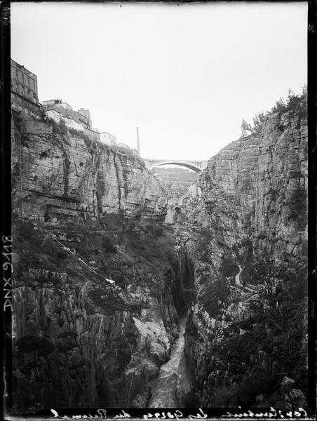 Vue en arrière-plan, sur les gorges du Rhummel