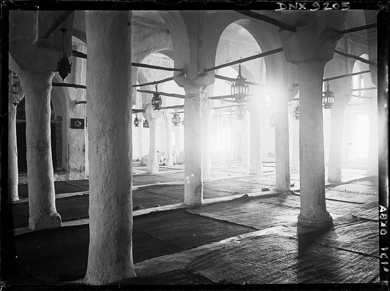 Intérieur : colonnes