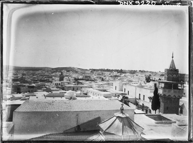Les toits de la Medina : vue panoramique et partie haute du minaret