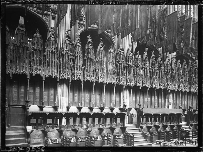 Intérieur, chapelle Henri VII : stalles