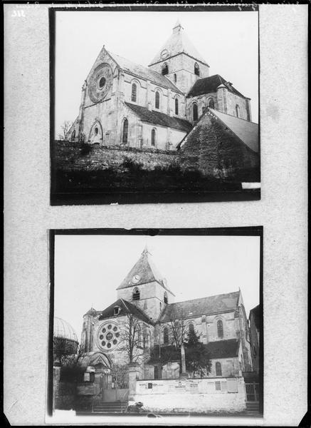 Ensemble et façade latérale (deux reproductions)