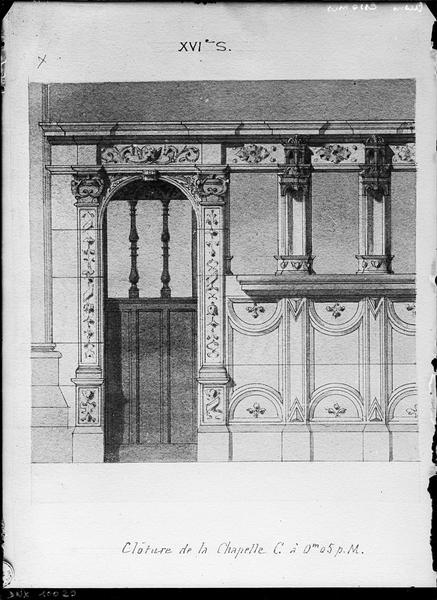 Plan : clôture de chapelle