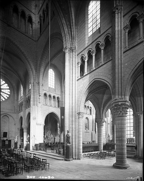 Transept, intérieur vu dans le sens sud-nord