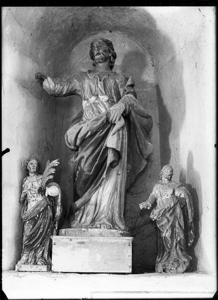 Statue : saint Gervais et deux autres statues de saints