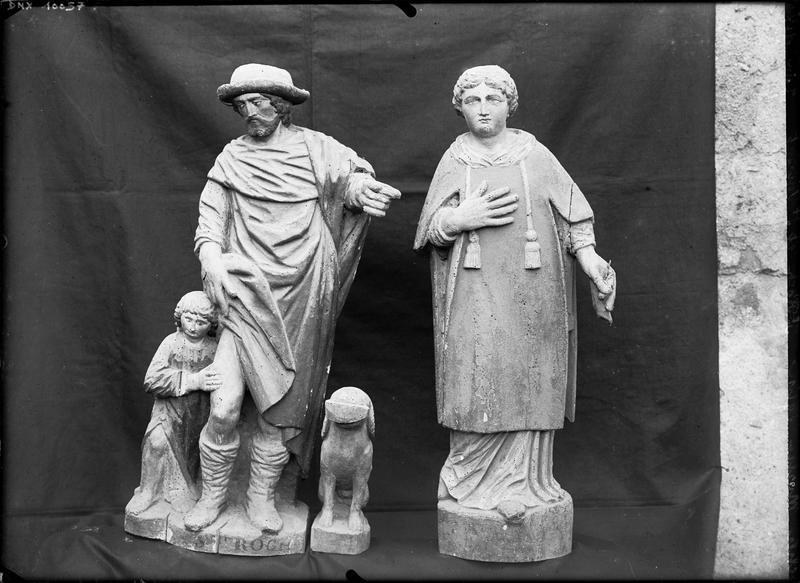 Statues : saint Vincent et saint Roch