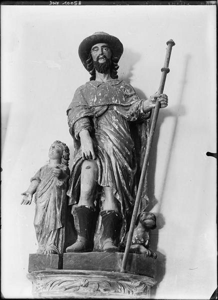 Groupe sculpté : saint Roch et donateur