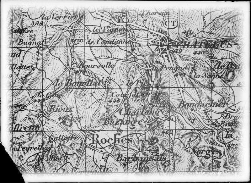 Carte d'Etat-major : Châtelus-Malvaleix et Roches