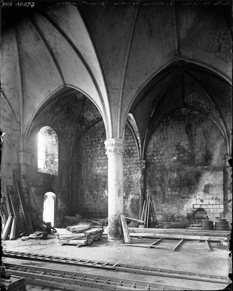 Intérieur : pilier et voûtes