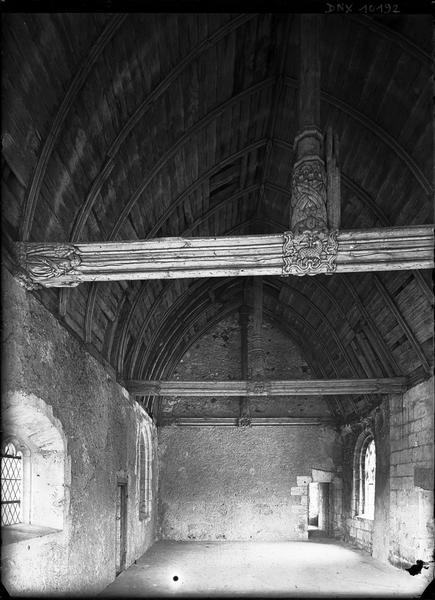 Chapelle haute : voûte lambrissée