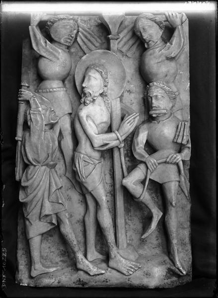 Panneau sculpté : la Flagellation
