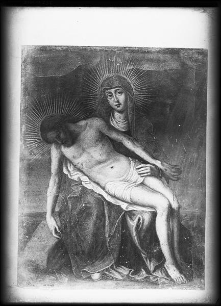 Peinture sur cuivre : Pieta