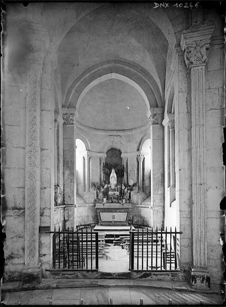 Intérieur, choeur : chapelle rayonnante