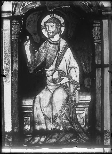 Vitrail : Christ bénissant