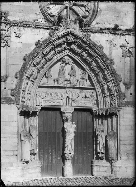 Façade ouest : portail principal