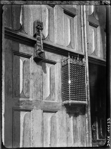 Porte d'entrée : détail des vantaux