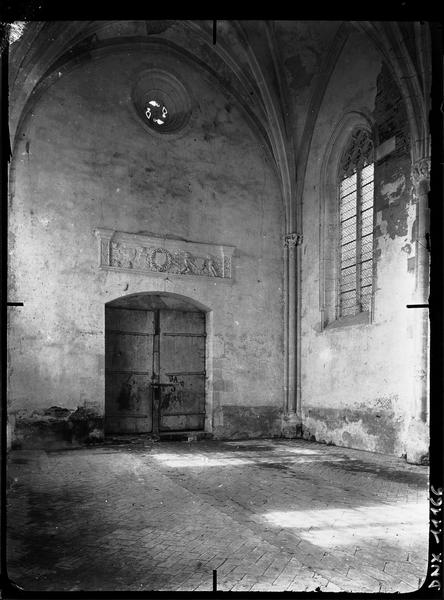 Chapelle : intérieur, détail
