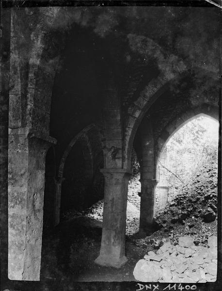 Caveau du Saint-Esprit : voûtes, colonnes et gravats