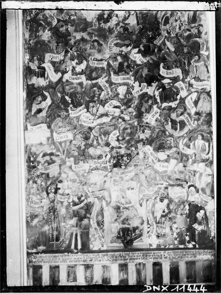 Relevé de la fresque du choeur : L'Arbre de Jessé