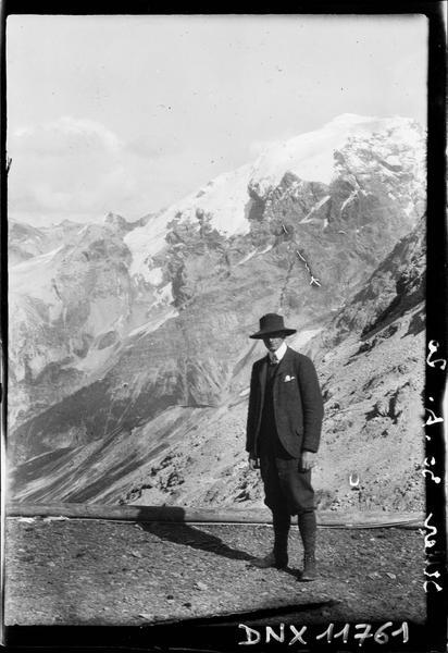 Portrait : promeneur dans le massif de l'Ortler