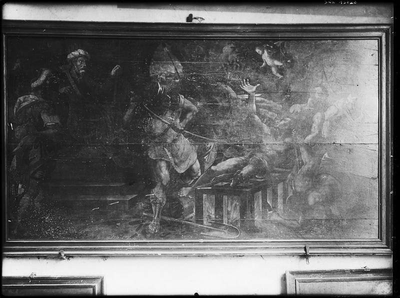 Tableau : martyre de saint Laurent