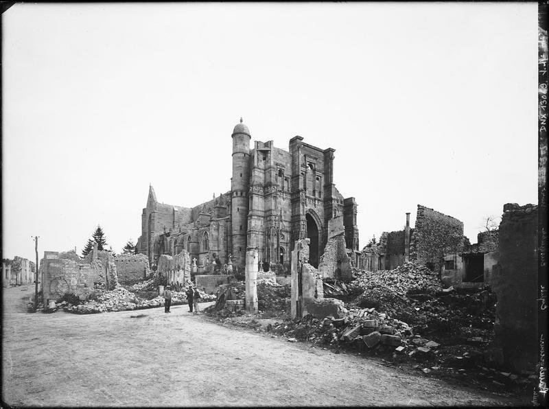 Ensemble nord-ouest et abords : dommages causés par les bombardements