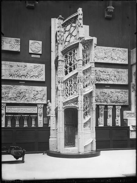 Moulage : escalier des orgues de l'église Saint-Maclou de Rouen