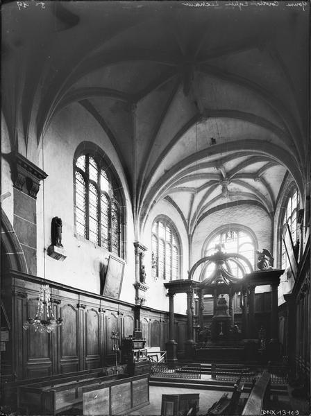 Intérieur, choeur : voûtes et autel