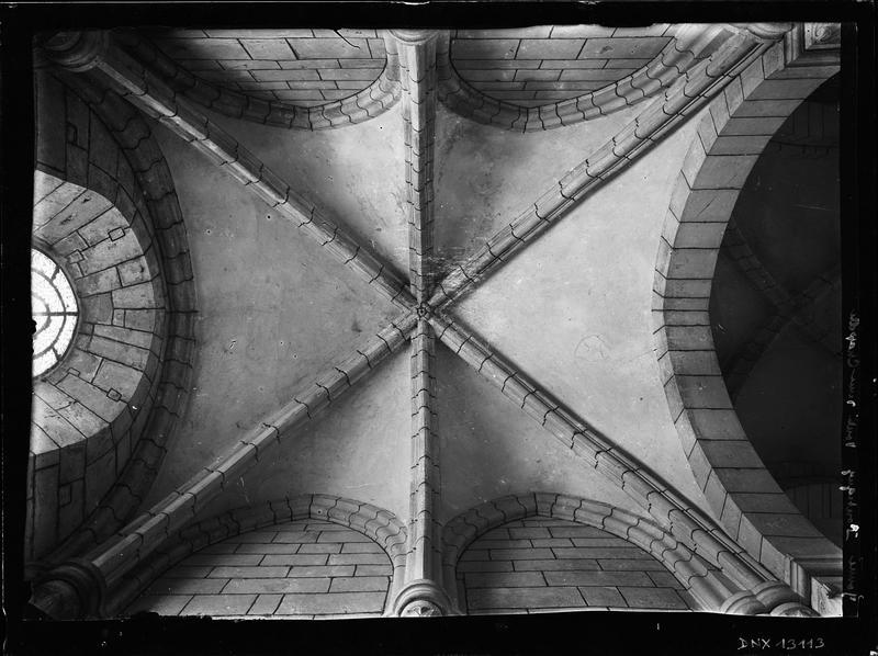 Intérieur : voûte d'une chapelle