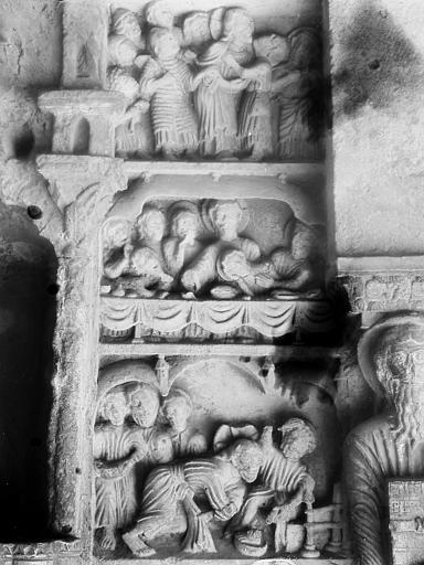 Bas-relief: scènes du Nouveau Testament