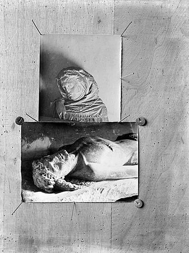 Photographies: statue du Christ et statue de femme