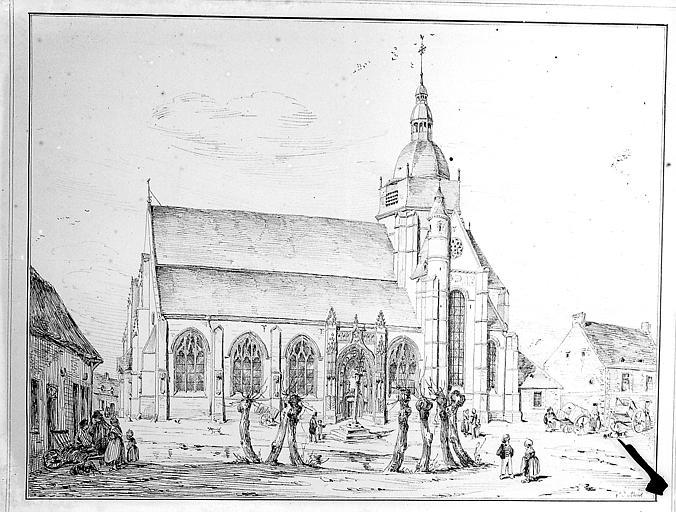 Dessin : l'église