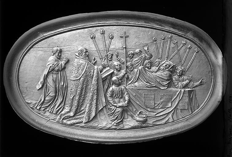 Bas-relief des stalles: scène religieuse