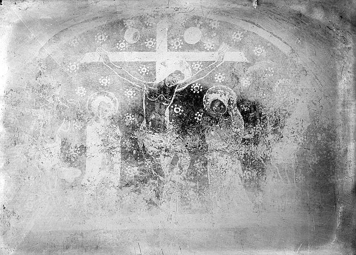 Crypte, peinture murale : la Crucifixion