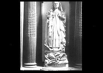 Statue : Sainte Catherine d'Alexandrie dite Sainte Barbe